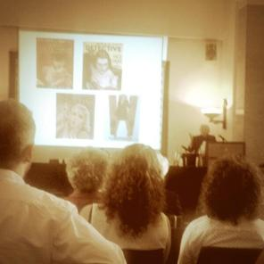 Image from Queens of Crime, a conference I organised in July 2014